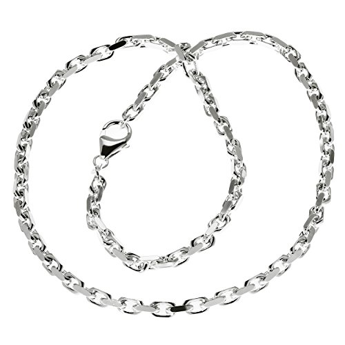 NKlaus 50cm Ankerkette Halskette Massiv 925 Sterlingsilber Diamantiert 3,80mm 30,5g 5892