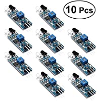OUNONA 10Pcs Módulo de Sensor de infrarrojo Evitación de Obstáculos para Arduino