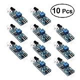 OUNONA IR Infrarot Hindernisvermeidung Sensor Modul für Arduino Smart Auto Robot 10 Stücke