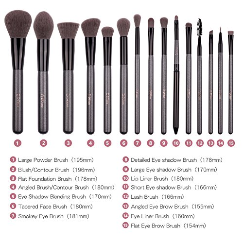 DUcare Make up brushes Set 15Pcs (15Pcs Brushes Set)