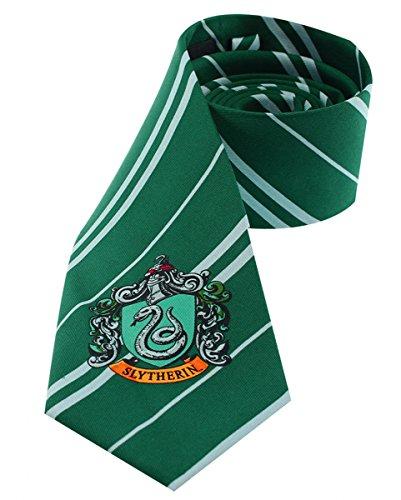 Harry Potter Slytherin Krawatte mit Hauswappen (Severus Kostüm Snape)