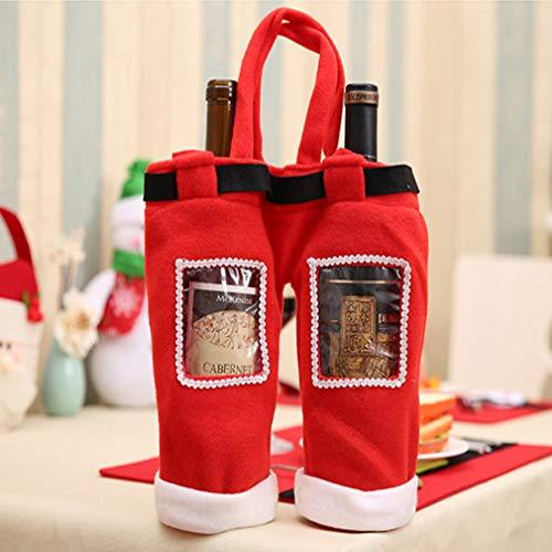 eihnachtssüte für Rotweinflasche, Champagner, Süßigkeiten, Weihnachtsdeko, Garten, Zuhause, Küche, Weihnachtsdekoration ()