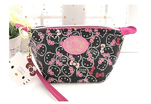 Hello Kitty Cosmetic Bag Makeup Pouch Black Kitty
