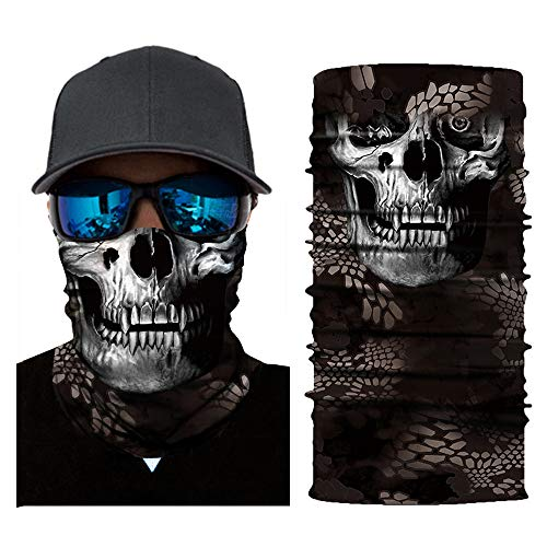 (AmyGline Fahrrad Motorrad Hals Schlauch Ski Warmer Schal Gesichtsmaske Sturmhaube Halloween Party)