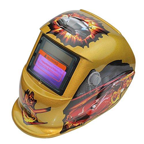 Moligh doll 2018 Neue Pro Solar Schweisser Maske Auto-Verdunkelung Schweisshelm Pattern Speed (Doll Masken)