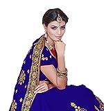 Mirchi Fashion Bollywood Kleider Damen Sari mit Ungesteckt Oberteil/Top Gedruckte Saree
