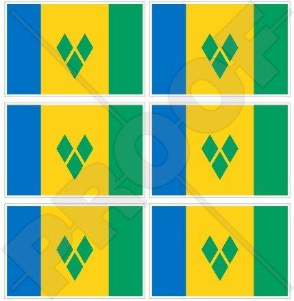St. Vincent und die Grenadinen Flagge, kleinen Antillen 40mm (40,6cm) Mobile Handy Vinyl Mini Sticker, Aufkleber X6