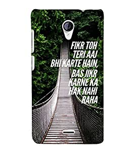 ifasho Designer Back Case Cover for Micromax Unite 2 A106 :: Micromax A106 Unite 2 (Divorce Think About You Only)