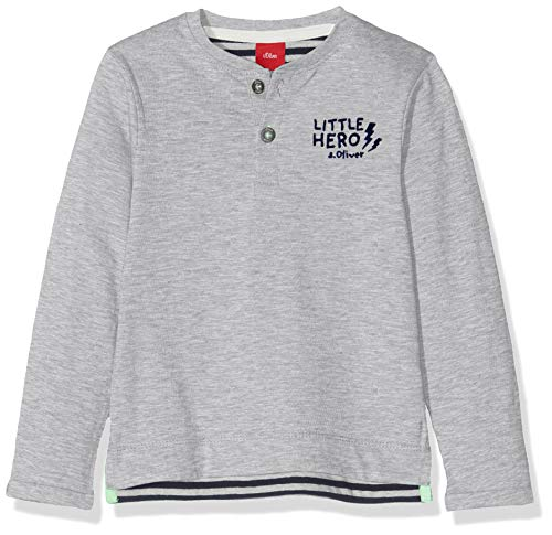 s.Oliver Baby-Jungen 65.908.31.8687 Langarmshirt, Grau (Grey Melange 9400), (Herstellergröße: 92)
