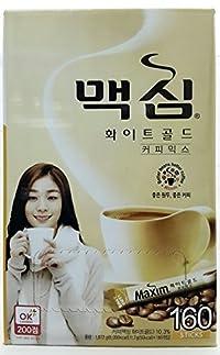 Maxim Korean Instant Coffee 160 sticks (White Gold)