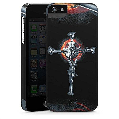 Apple iPhone X Silikon Hülle Case Schutzhülle Löwe Knochen Totenkopf Premium Case StandUp