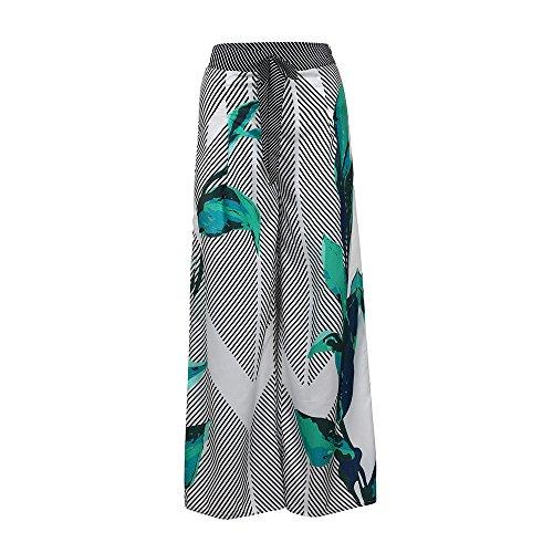 Sunenjoy Femme Pantalon Large Floral Imprimé Pantalons Jambe Large Harem  Palazzo Taille Haute Décontracté Chic Élégant e87ce45ac9a