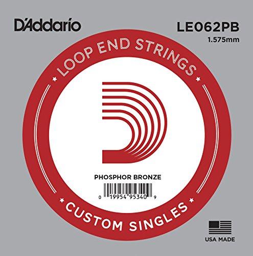 D'Addario .062 Einzelsaite aus Phosphor-Bronze - 0.062