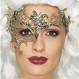 Filigree Augenmaske - gold - Venedigmaske für Maskenball Barock Maskerade Metall Halbmaske Venedig Ballmaske Venezianische Maske
