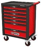 KS Tools 826.7515 RACINGline SCHWARZ/ROT Werkstattwagen mit 7 Schubladen und 515 Premium-Werkzeugen