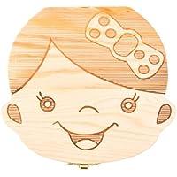 Bebé dientes caja save cajas de madera caja de recuerdos para primera Haircut diente hada personalizado dientes soporte