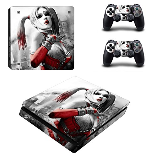 lim + 2 Controller Aufkleber Schutzfolien Set - Harley Quinn /PS4 S (Harley Quinn Aufkleber)