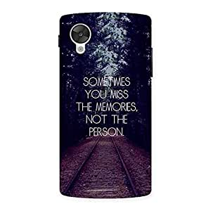 Neo World Miss Memories Back Case Cover for Google Nexsus 5