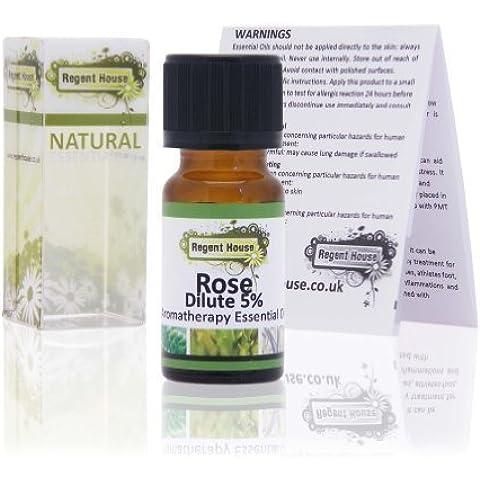 Rosa Diluído Aceite Esencial (10ml) by Regent House (Rosa Damascena)