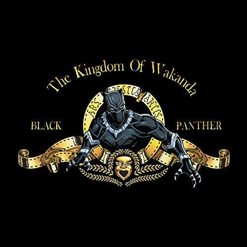 Cloud City 7 The Kingdom Of Wakanda MGM Logo Black Panther Women's Vest Black