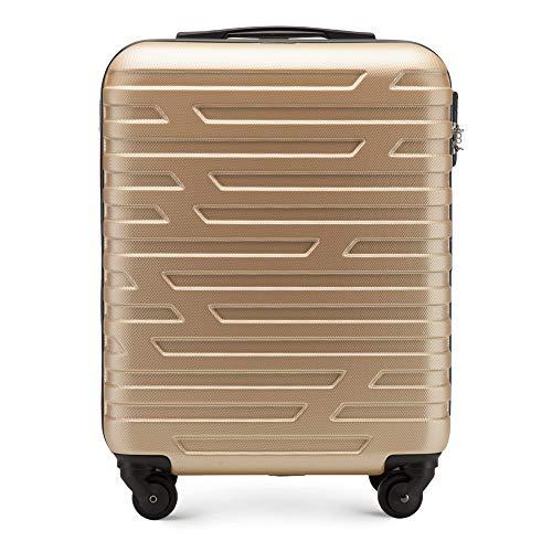 WITTCHEN Trolley Bagaglio a mano - Valigia rigida | Colore: Oro | Materiale: ABS | Dimensioni: 54x39x23 | Peso: 2,7 kg | Capacità: 38 L | 4 ruote