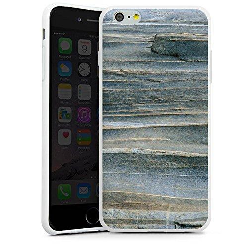 Apple iPhone X Silikon Hülle Case Schutzhülle Grauer Sandstein Fels Stein Silikon Case weiß