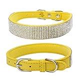 Winkey Haustier-Halsband, Bling Hundehalsband glänzend Strass besetzt mit verstellbarer Hunde-Halsband