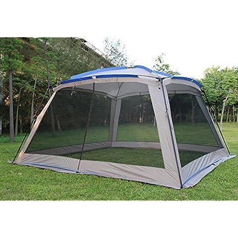 Tenda a cupola per 5–8persone, larga, impermeabile e con protezione solare UPF 50+, con veranda, per campeggio, pesca