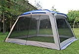 Outdoor Sports 5-8 People Large Beach Canopy UPF 50+ Sun Shade Event Shelter Gazebo Screenhouse Waterproof Day Tent Awning for Camping Fishing Hiking (White-Only inner canopy)