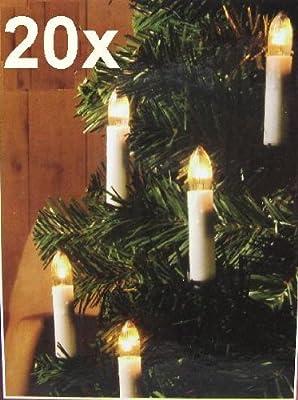 Weihnachtsbaumbeleuchtung Weihnachtsbeleuchtung, Lichterkette 20 Kerzen Lampen mit Clip (BE) von LHS - Lampenhans.de