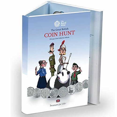 The Standard Edition - New Royal Mint 50p (50 PENCE) Great British Coin Hunt Collector Album/Folder now with slots up to 2017 by Royal Mint