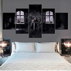 gaowei Wall Art HD Prints Home Decor Poster 5 Unidades Juego De Trono Cuadro Lienzo Película Pintura para la Sala de… 4