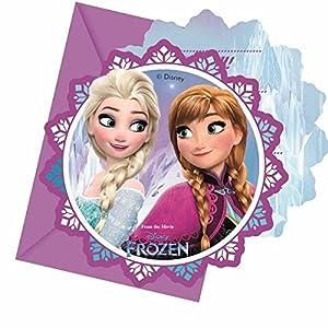 Procos 86919-Invitaciones con sobre Disney Frozen, 6unidades, multicolor