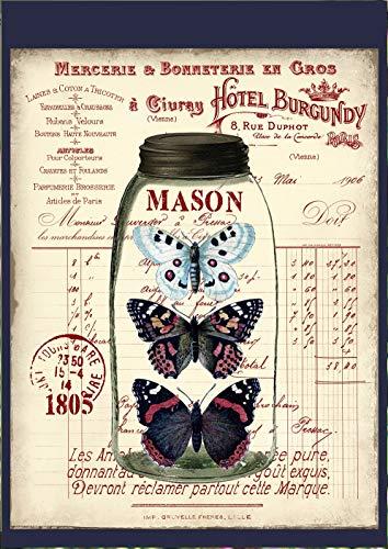 Flaggen Galore Decor & More Schmetterlinge in einem Mason Jar Collage Garten Flagge (Mason Jar-schmetterling)