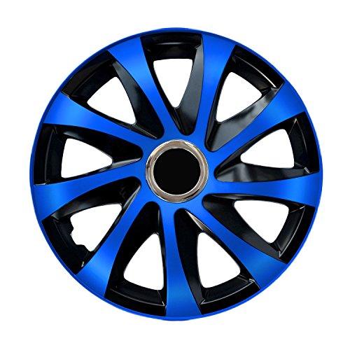 Radzierblende DRIFT EXTRA blau/schwarz 14 Zoll 4er Set Blau 14