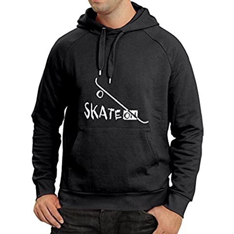 Hoodie Skate ON ! (Small Black Fluorescent)