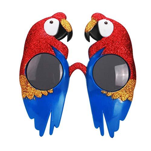 ier Sonnenbrille Papageien Partybrille Spaß Brille Dekobrille Gläser Foto Requisiten Foto Accessoires ()