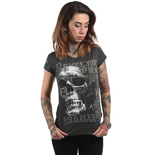 Yakuza Original Damen Diamond Skull V-Neck T-Shirt