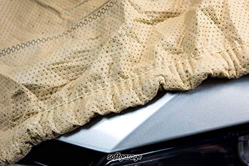 SOFTGARAGE 3-lagig beige Indoor Outdoor atmungsaktiv wasserabweisend Car Cover Vollgarage Ganzgarage Autoplane Autoabdeckung