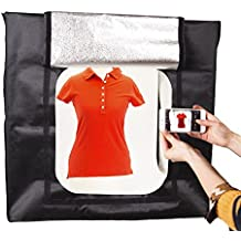 Portatile LED da 80cm, con 4luci di striscia 5400K Cube fotografia professionale pieghevole (bianco/grigio/arancione fondali) per torte regali di antiquariato fiori scarpe abbigliamento gioielli prodotto fotografia di Hakuatz