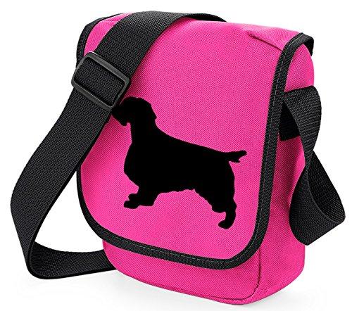 Bag Pixie - Borsa a tracolla unisex adulti Black Dog on Pink Bag