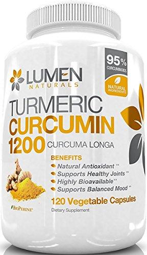 Curcumina Cúrcuma 1200 mg con 95%
