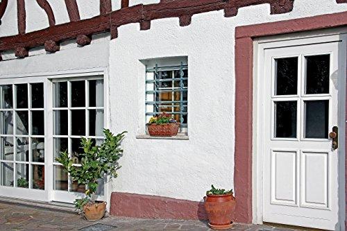 GAH-Alberts 563653 Fenstergitter Secorino Style – ausziehbar, galvanisch blau verzinkt, 600 x 700-1050 mm - 5
