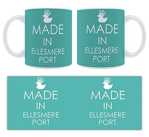 Hergestellt In Ellesmere Port-Stylised Große Tasse aus Keramik Ellesmere Port
