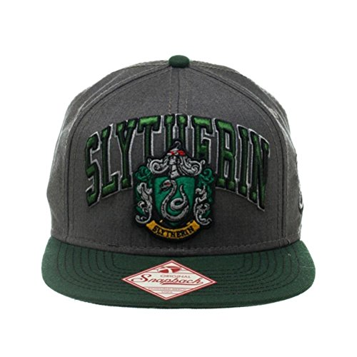 Harry Potter Slytherin Snapback Cap | Slytherine Wappen und Logo Design Hut (Slytherin Hat)