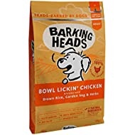 Barking Heads Dry Dog Food - Bowl Lickin' Chicken - 100% Natural Chicken with No Artificial Flavours, Good for Healthy Digestion and Joint Health, 12 kg