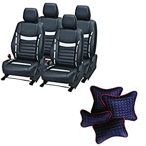 Pegasus Premium Seat Cover for Maruti New Swift With Neck Rest And Pillow/Cushion
