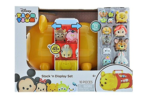 Disney Tsum Tsum Stack 'n Display Winnie Pooh Stack 12 figuras y maletín