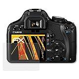 atFoliX Schutzfolie für Canon EOS 450D/Rebel XSi Displayschutzfolie - 3 x FX-Antireflex blendfreie Folie
