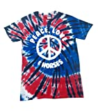 Edward Sinclair Símbolo de la Paz, diseño de Corazones y diseño de Caballos' Tie Dye...